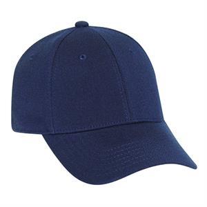 Stretchable Deluxe Wool Blend Solid Color Low Profile Pro Style Cap. Blank