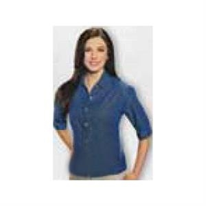 Sierra Pacific - Dark Denim - Ladies' 6 Oz, 100% Soft Washed Cotton Denim Shirt. Opportunity Buy