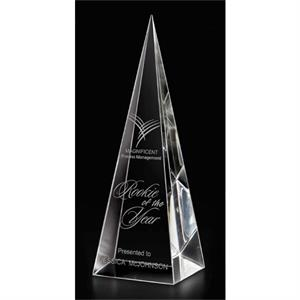 Translucent Pyramid Optical Crystal Award, 1 3/4 Lbs