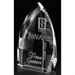 Blaze - Clear Optical Crystal Award, 2 1/2 Lbs