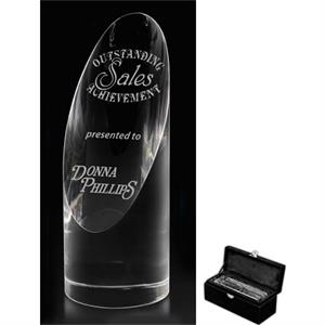 Dome Prism Optical Crystal Award, 2 1/2 Lbs