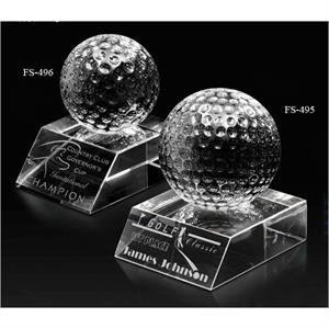 Match Play - Optical Crystal Golf Award, 2 5/8 Lbs