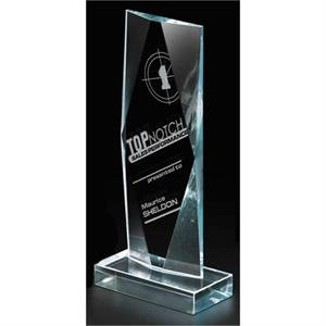 Captive Diamond - Polished Starphire Glass Diamond Award, 2 1/4 Lbs