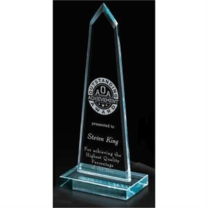 Starphire Peak - Polished Starphire Peak Glass Award, 2 1/2 Lbs