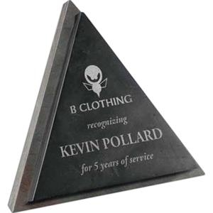 Triangle Shaped Slate Award