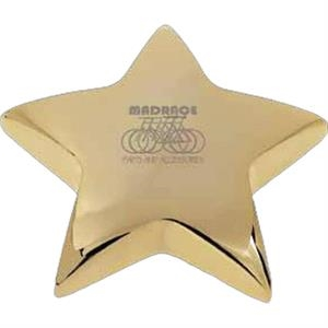 Superstar I - Gold Plated Brass Paperweight With Pouch, 13 Oz