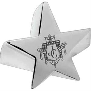 Radiant - Polished Silver Plated Zinc Alloy Star Shaped Award, 14 Oz
