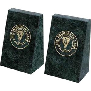 Imperial - Green Marble Bookends