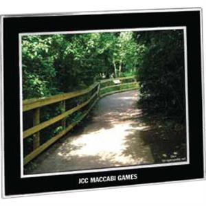 "Barclay - Black/silvertone Aluminum Photo Frame, Holds An 10"" X 8"" Photo"