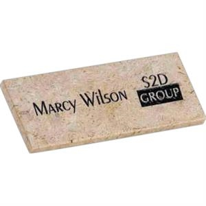 Cappuccino Stone Name Badge