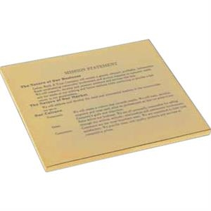 Stock Certificate Plaque Paperweight With Pouch