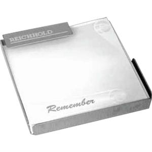 Technocrat - Brushed Silvertone Aluminum Memo Pad Holder With Memo Pad