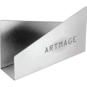 "Technocrat - Brushed Silvertone Aluminum Envelope Holder, 5 1/2"" X 3"" X 1 1/2"""