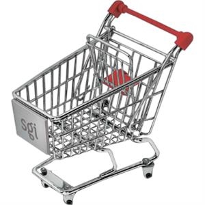 Chrome Plated Metal Internet Shopping Cart