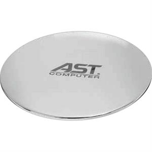 Polished Chrome Plated Zinc Alloy Mouse Pad