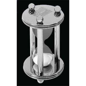 Designer Gallery - Silver Plated Brass Sand Timer, Approximately 15 Minutes