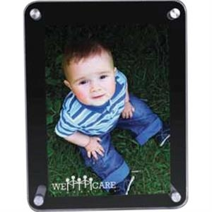 "Jade Glass/black Glass Photo Frame Holds A 4"" X 6"" Image"