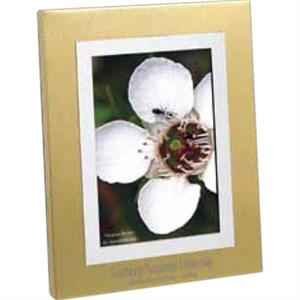 "Corona - Brushed Gold/silvertone Aluminum Frame, Holds 3 1/2"" X 5"" Photo"