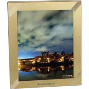 "Carlton - Goldtone Aluminum Frame That Holds 8"" X 10"" Photo"
