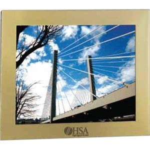 "Acclaim - Brushed Goldtone Aluminum Frame, Holds 10"" X 8"" Image"