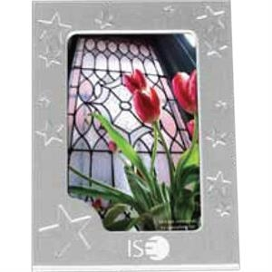 Star Design Magnet Frame Made Of Brushed Silvertone Aluminum