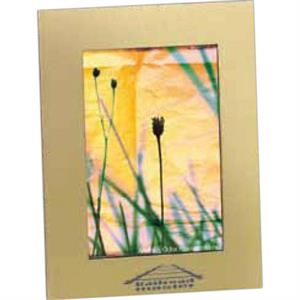 "Acclaim - Brushed Goldtone Aluminum Frame, Holds 4"" X 6"" Image"