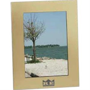 "Acclaim - Brushed Goldtone Aluminum Frame, Holds 5"" X 7"" Image"