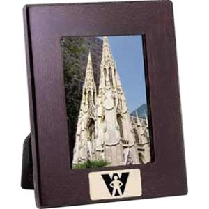 "Prestige Iv - Cherry/black Regalwood/glass Photo Frame, Holds 3 1/2"" X 5"" Image"
