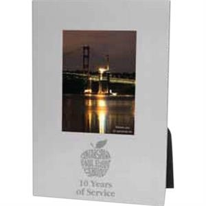 "Viva - Brushed Silvertone Aluminum Photo Frame, Holds 2"" X 3"" Image"