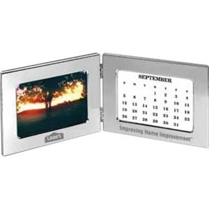 "Royalty I - Zinc Alloy Double Frame With 7 Perpetual Calendar Cards, Holds 5"" X 3.5"" Image"