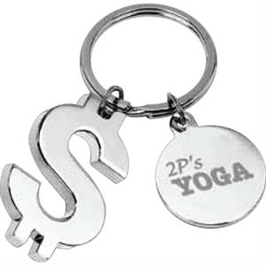 Dollar Sign Shaped Key Holder With Pouch