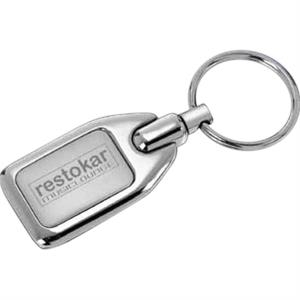 "Herald - Matte And Polished Silver Plated Zinc Alloy Key Holder, 2"" X 1 1/8"" X 1/8"""