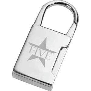 "Putnam - Polished Silver Plated Zinc Alloy Key Holder With Pouch, 3/4"" X 2"" X 1/4"""