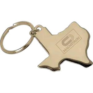 Texas - Texas Key Ring With Pouch Made Of Gold Plated Brass