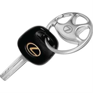 Steering Wheel Key Holder, Matte Silver Plated Zinc Alloy