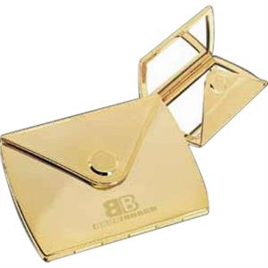 Charmaine - Gold-plated Zinc Alloy Envelope Compact With Pouch