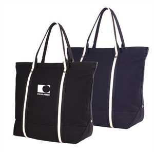 East Side Threads - 24 Oz Canvas Tote Back With Zippered Top And Interior Hanging Pocket