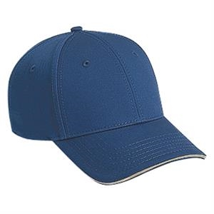 Pro Style, Structured Six Panel Superior Cotton Twill Cap With Low Profile. Blank