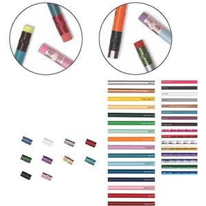 Create-a-pencil (tm) - 3 Color Imprint - Pink Jewel - Customizable Round Barrel, #2 Core Pencil