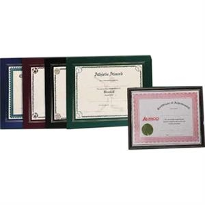 Die Cut Leatherette Certificate Frame With Imprint