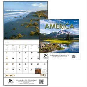 Landscapes Of America - Stapled 13-month 2013 Scenic Calendar With Colorful Landscapes Of America