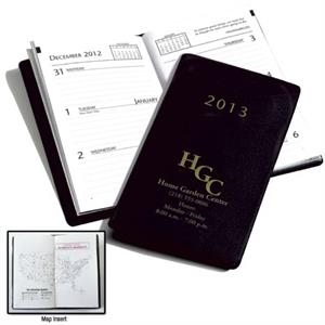 Classic Pocket Planner With Vinyl Cover And One-week Display On Two-pages