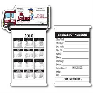 Truck Flip It Calendar With Repositionable Adhesive