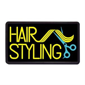 "Hair Styling 13"" x 24"" Simulated Neon Sign"