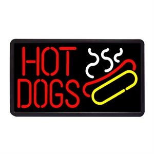 "Hot Dogs 13"" x 24"" Simulated Neon Sign"