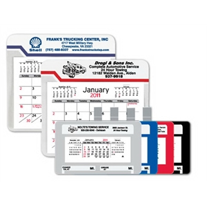 Car / Truck Visor Calendar with Clip - Large