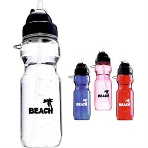 The Flip - Water Bottle With Built-in Straw, 20oz