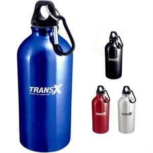 The Sporty - Stainless Steel Water Bottle With Carabiner, 20 Oz