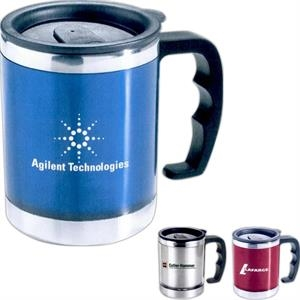 The Flavour - Double Walled Translucent Desk Mug With Stainless Steel Liner