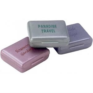 "Custom Imprinted Rectangular Pill Holder - 1 3/4"" X 1 1/2"" X 3/4"""